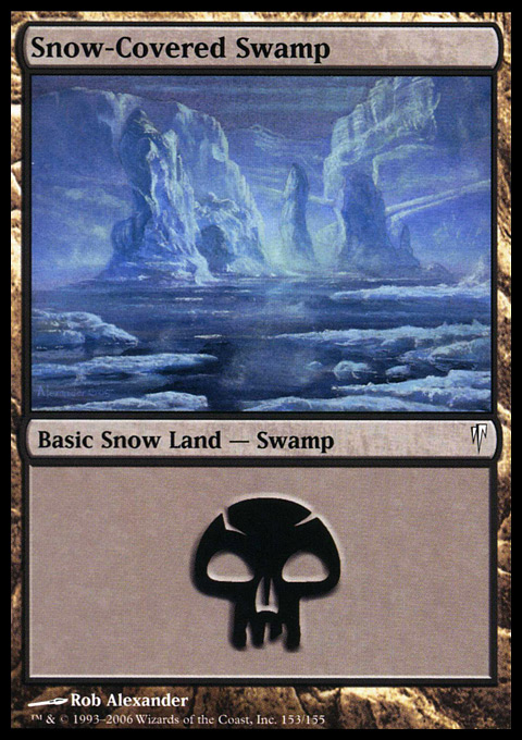 MTG 1x SNOW-COVERED ISLAND Coldsnap *FOIL NM*