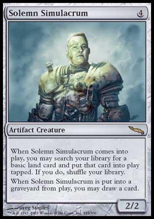 Magic commander 2016-1x Solemn Simulacrum
