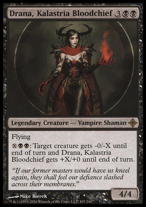 Commander MTG Magic the Gathering NM 1x DRANA Rare KALASTRIA BLOODCHIEF